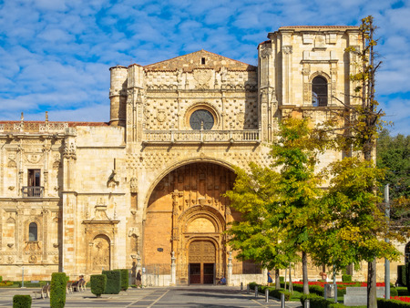 Museum in a former monastery on San Marcos Square - Leon, Castile and Leon, Spain Editorial