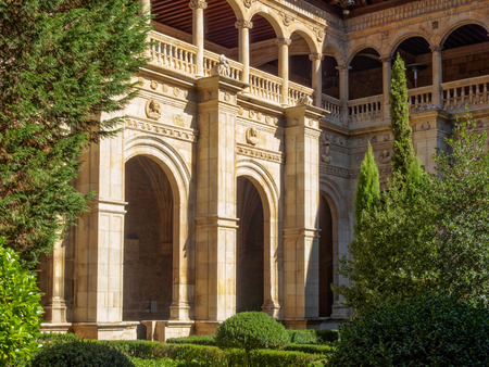 Cloister and courtyard of Parador Hostal San Marcos - Leon, Castile and Leon, Spain, 21 September 21, 2014