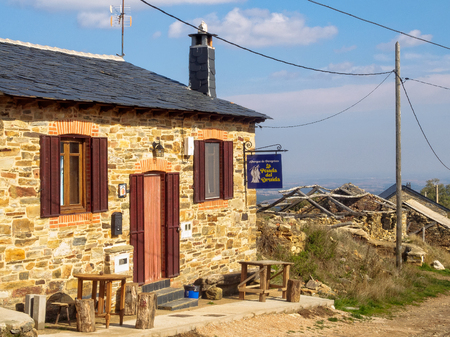 Hostel La Posada del Druida is one of the newly opened business serving the Camino in the semi-abandoned hamlet - Foncebadon, Castile and Leon, Spain, 24 September 2014
