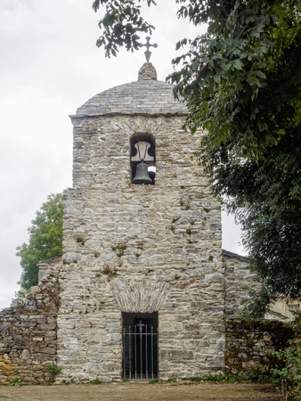 Belltower of the 11th century pre-Romanesque Church of St. Juan - Hospital de la Condesa, Galicia, Spain