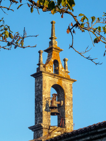 Bell gable of the St. Mary's Church - Melide, Galicia, Spain