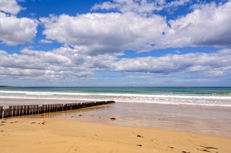 Front Beach is a top spot for swimming at the start of Great Ocean Road - Torquay, Victoria, Australia