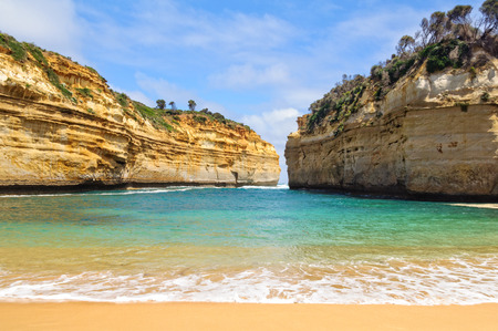 Small beach at the bottom of the Loch Ard Gorge - Port Campbell, Victoria, Australia