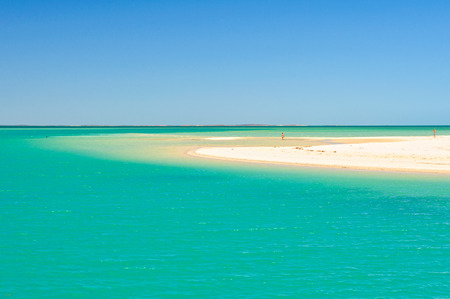 Beautiful colours of the sky, a sand dune and the Indian Ocean - Shark Bay, WA, Australia
