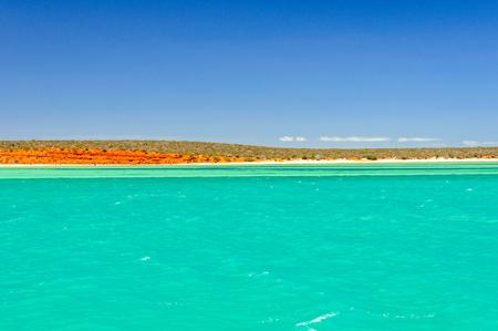 Beautiful colours of the sea, sky, land, vegetation and clouds - Monkey Mia, WA, Australia