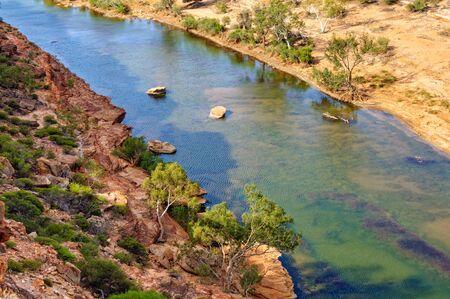 Murchison River from the Ross Graham Lookout - Kalbarri, WA, Australia 写真素材
