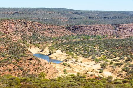 Little oasis in the Murchison Gorge - Kalbarri, WA, Australia 写真素材