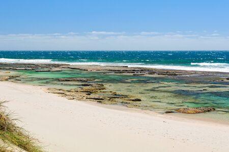 Back Beach, just one of many beaches in the area - Kalbarri, WA, Australia 写真素材