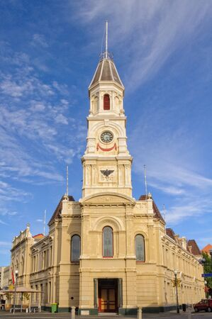 Town Hall at the corner of High, William and Adelaide Streets - Fremantle, WA, Australia