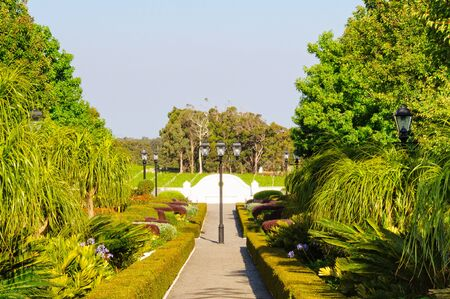 Even the gardens of the Leeuwin Estate are worth a look - Margaret River, WA, Australia Stok Fotoğraf