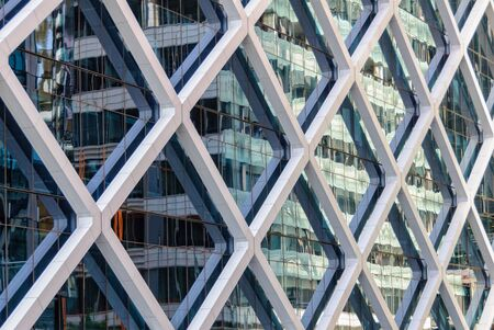 Reflection in the glass facade of a highrise  office building - Sydney, NSW, Australia Zdjęcie Seryjne