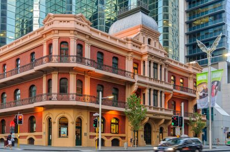 The Palace Hotel is a landmark three-storey heritage listed building in the central business district - Perth, Western Australia, Australia