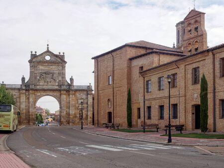 San Benito arch and the Santa Cruz monastery - Sahagun, Castile and Leon, Spain