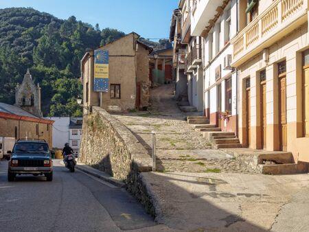 Alternative Camino routes: the recommended Camino Pradela (right), the scenic Camino Dragonte (left) and the least interesting Camino Pereje (also left) - Villafrance del Bierzo, Castile and Leon, Spain