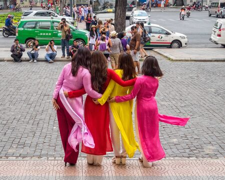 Photoshoot in front of the Saigon Central Post Office - Ho Chi Minh City, Vietnam