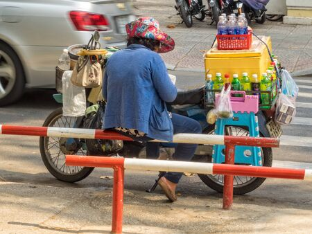 Street vendors are everywhere - Ho Chi Minh City, Vietnam