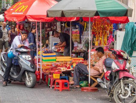 Street vending is an essential part of the city - Ho Chi Minh City, Vietnam Publikacyjne