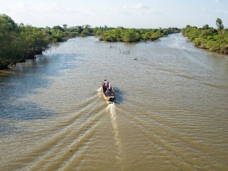 Milliards of channels and canals in the Mekong River Delta - Vinh Long, Vietnam