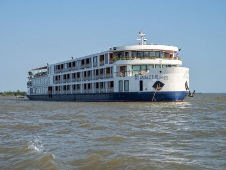 RV AmaLotus is one of the most luxurious river ships cruising on the Mekong River - Vinh Long, Vietnam