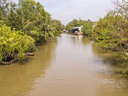 One of many canals in the Mekong Delta - Tra Vinh, Vietnam