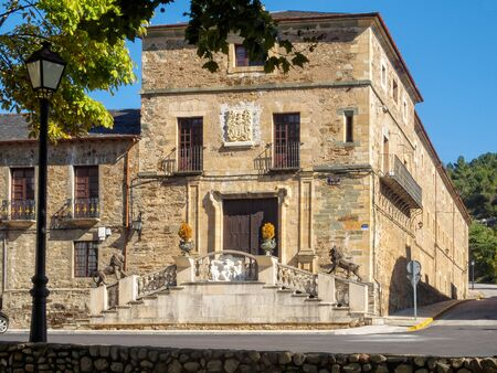 The entrance of the Palace of the Dukes of Arganza - Villafrance del Bierzo, Castile and Leon, Spain