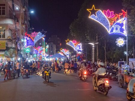 Busy evening before the Vietnamese New Year - Can Tho, Vietnam