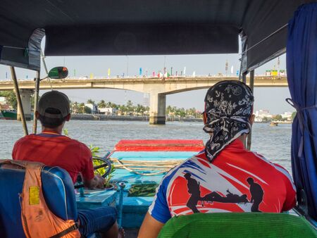 On a boat tour on the Hau River in the Mekong Delta - Can Tho, Vietnam Zdjęcie Seryjne