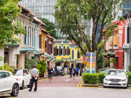 Many houses of Emerald Hill Rd are nice examples of Chinese Baroque architecture - Singapore