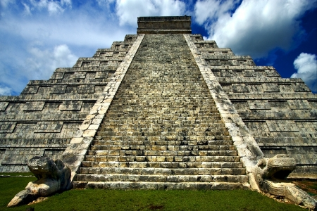 the stsir of chichen itza temple photo