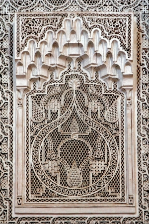 a decoration in a window in the bardo