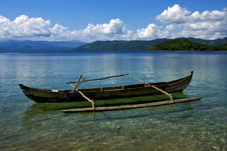 a boat in the sea of nosy be madagascar