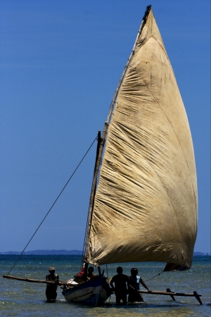 blu: a boat for fish in nosy be madagascar