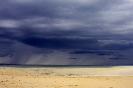 blu sky: nosy iranja madagascar ,the beach  and the island