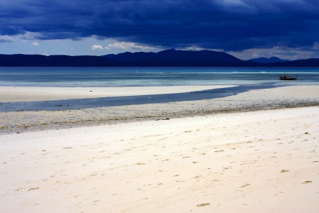 Madagascar littoral, plage de Nosy Iranja Banque d'images