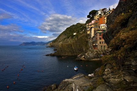 the stairs in the village of riomaggiore in the north of italy,liguria Stock Photo - 16056352