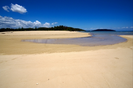 the beach and the lagon of nosy mamoko madagascar Stock Photo