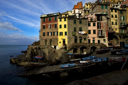 the stairs in the village of riomaggiore in the north of italy,liguria Stock Photo - 16056355