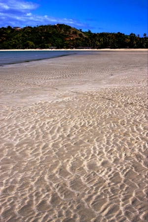 plage et du sable dans Nosy Be Madagascar, lowtide et arbre pr�s d'une cabane