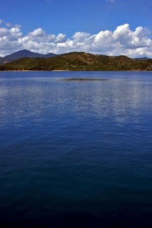 nosy: nosy be ,nosy mamoko, madagascar lagoon , coastline and sand Stock Photo