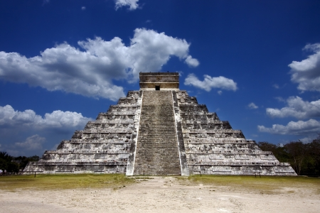 the stairs of chichen itza temple,kukulkan ,el castillo,quetzalcoatl photo