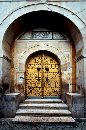 old door in the city of tunisi tunisia Stock Photo