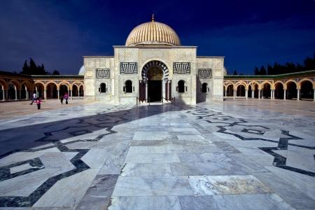 bourguibas gold mausoleum in monastir,tunisia