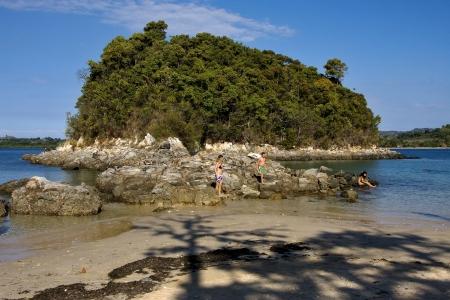 kisimamy bay, madagascar lagoon , coastline and sand