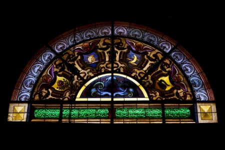 colored window: the colored window in the church of chiavari italy