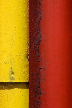 colored iron metal sheet in la boca buenos aires photo