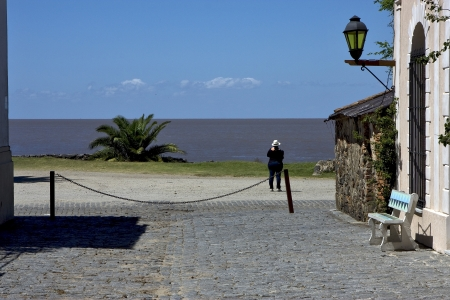 view from the city of colonia del sacramento  uruguay  to river rio de la plata Stock Photo - 17348592