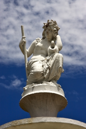 divinity: a statue of divinity in san nicola argentina