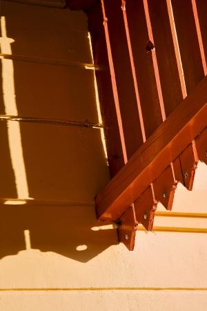 hole and reflex for a  terrace yellow wood colonia del sacramento  uruguay Stock Photo - 17478100