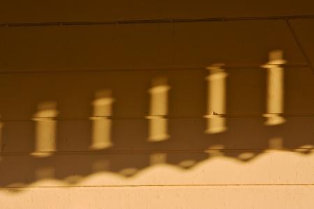 lead in wire hole and reflex for a  terrace yellow wood colonia del sacramento  uruguay Stock Photo - 17478098