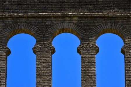 colonia del sacramento: old window and wall in plaza de toros centre of colonia del sacramento uruguay